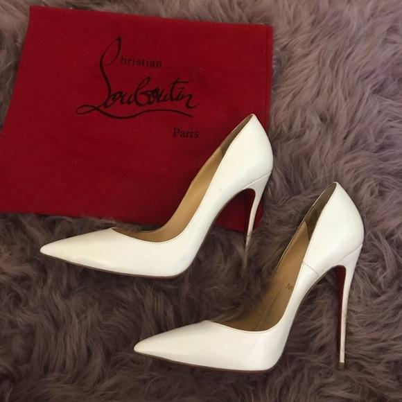 sale retailer c228f a3956 Christian louboutin So Kate white patent leather